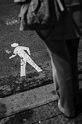 Pedestrian Crossing Art Print by Pablo Lopez