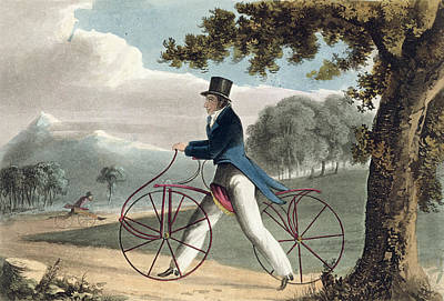 Cycling Drawing - Pedestrian Hobbyhorse, From Ackermanns by English School