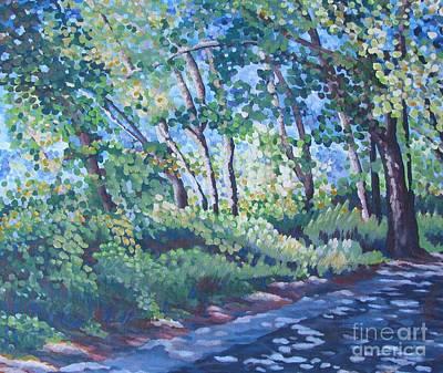 Bfa Painting - Pedestrian Path by Vanessa Hadady BFA MA