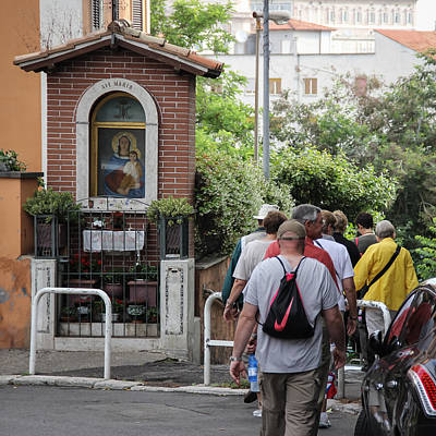 Photograph - Pedestrian Short Cut To The Vatican - June 4 by Dwight Theall