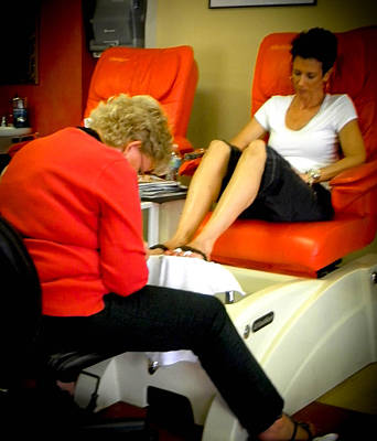 Photograph - Pedicure by Christy Usilton