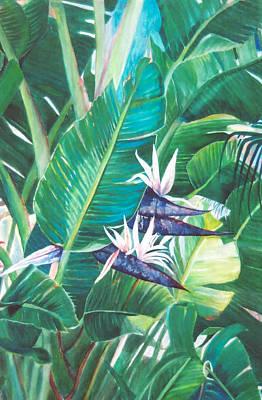 Peek A Boo Whitebird  Original by Susan Duda