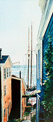 Bluenose Painting - Peek At The Bluenose by Hanne Lore Koehler