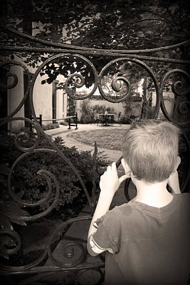 Photograph - Peek Through The Gate by Kelly Hazel