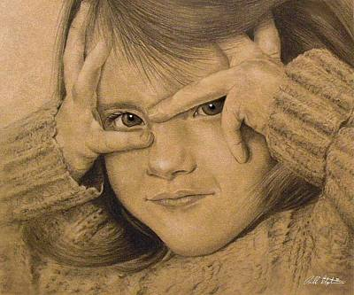 Drawing - Peekaboo by Bill Stephens