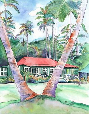 Peeking Between The Palm Trees 2 Art Print
