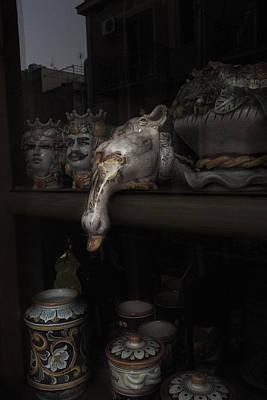 Sicily Digital Art - Peeking Duck by William Fields