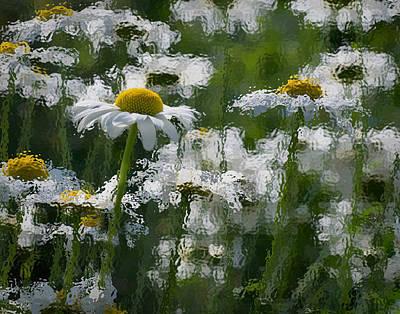 Flowers Photograph - Peeking Through by Eleanor  Bortnick