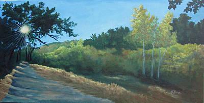 Painting - Peeking Through Placerita Canyon  by Lisa Barr