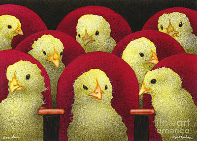 Peep Show... Art Print by Will Bullas
