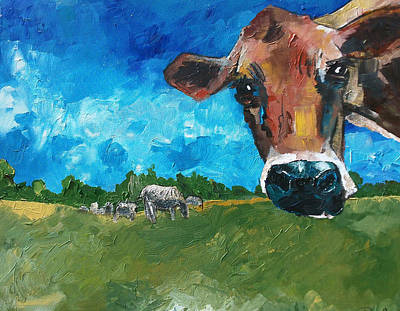 Painting - Peeping Bessie by Sean Parnell