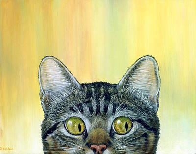 Peeper Painting - Peeping Tom I by Cara Bevan