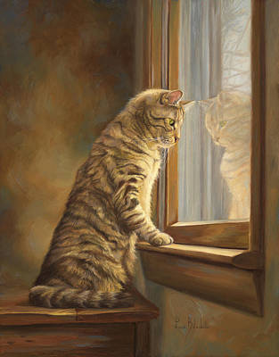 Peering Out The Window Art Print
