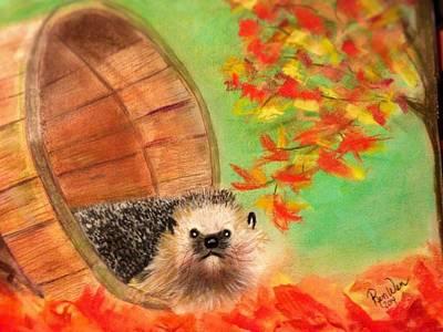 Pastel - Peevish Porcupine by Renee Michelle Wenker