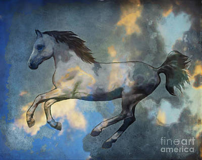 Painting - Pegasus In Flight by Ursula Freer
