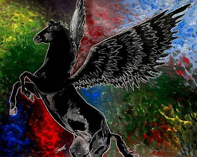 Pegasus Mixed Media - Pegasus by Jeremy Moore