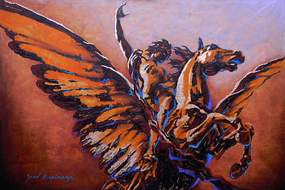 Pegasus Mixed Media - Pegasus by Jose Espinoza