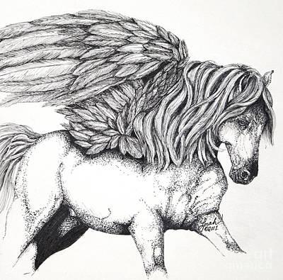 Pegasus Mixed Media - Pegasus by Lorah Buchanan