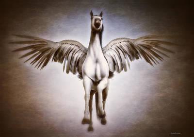 Pegasus Digital Art - Pegasus by Ramon Martinez