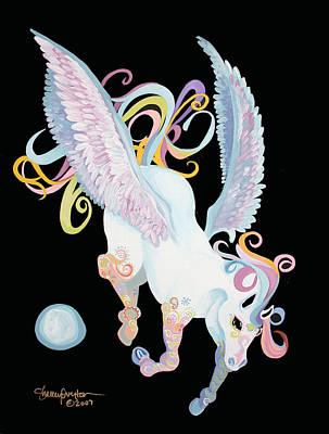 Pegasus Mixed Media - Pegasus by Shelley Overton