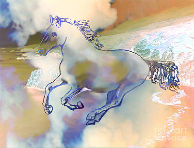 Pegasus Art Print by Ursula Freer