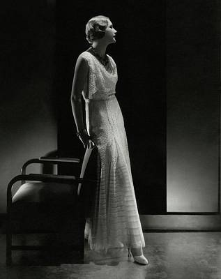 1930s Fashion Photograph - Peggy Boughton Wearing A Lelong Dress by Edward Steichen