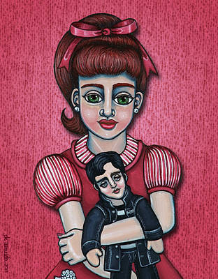 Peggy Sue Art Print by Victoria De Almeida