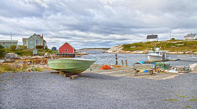 Bouys Photograph - Peggy's Cove 1 by Betsy Knapp