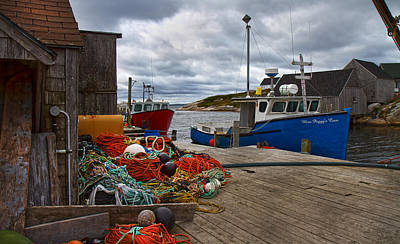 Bouys Photograph - Peggy's Cove 18 by Betsy Knapp