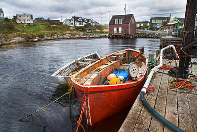Bouys Photograph - Peggy's Cove 19 by Betsy Knapp