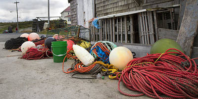 Bouys Photograph - Peggy's Cove 21 by Betsy Knapp