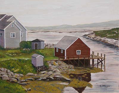 Painting - Peggy's Cove by Alan Mager