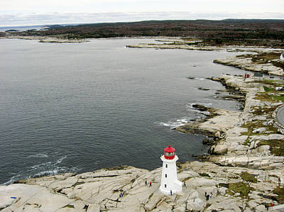 Photograph - Peggys Cove And The Lighthouse, Nova by Rob Huntley