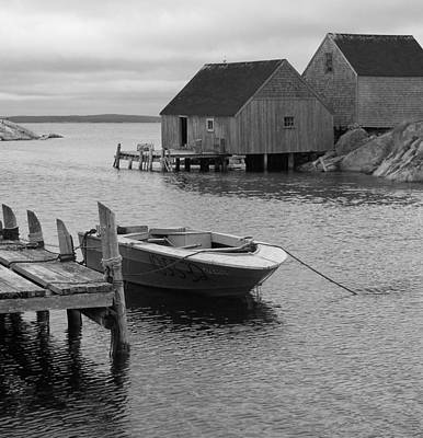 Photograph - Peggys Cove In Black And White by Richard Bryce and Family
