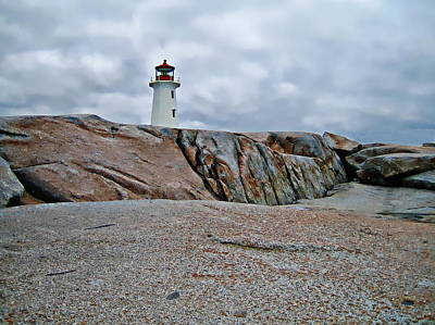 Photograph - Peggy's Cove Lighthouse by Anthony Dezenzio