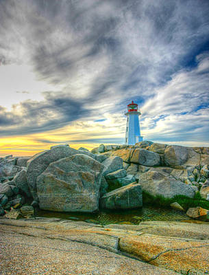 Craig Brown Photograph - Peggy's Cove Lighthouse by Craig Brown