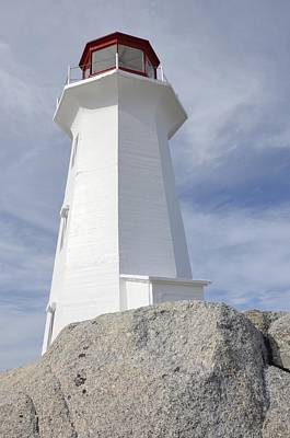 Photograph - Peggy's Cove Lighthouse by Michael Gooch