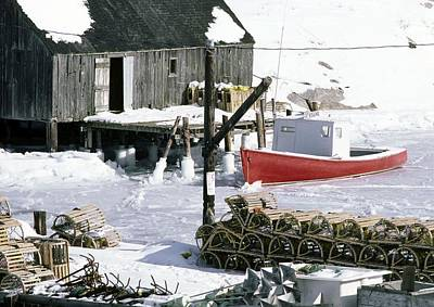 Peggy's Cove Nova Scotia Canada In Winter Art Print
