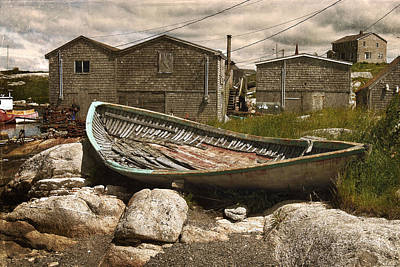 Photograph - Peggy's Cove Nova Scotia  by Cindy Rubin