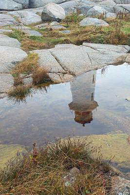 Photograph - Peggy's Cove Reflection by Gordon  Grimwade