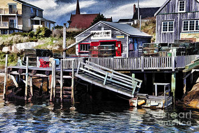 Photograph - Peggy's Cove by Shirley Mangini