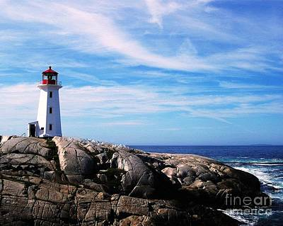 Photograph - Peggys Point Lighthouse by Mel Steinhauer