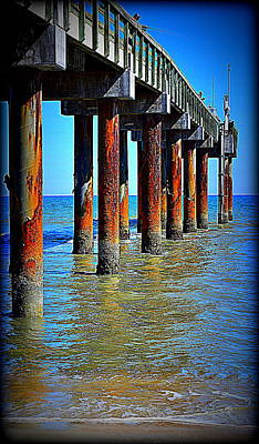 Photograph - Peir Fishing 1 by Sheri McLeroy