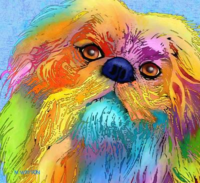 Purebred Digital Art - Pekingese by Marlene Watson