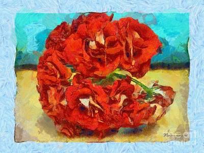 Pelargonium Spherical Art Print by Dana Hermanova
