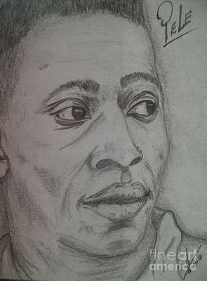 Pele Drawing - Pele by Collin A Clarke