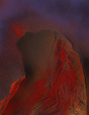 Volcano Goddess Painting - Pele by Mary-Lela Gilbert
