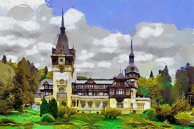 Pele Painting - Peles Castle Romania by Georgi Dimitrov