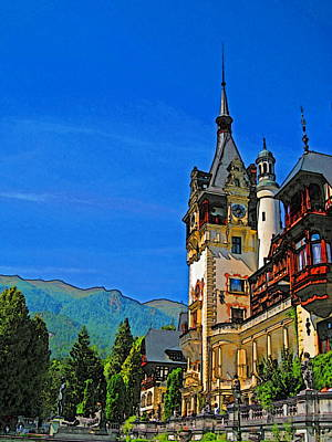 Pele Digital Art - Peles Castle Romania by Harold Bonacquist