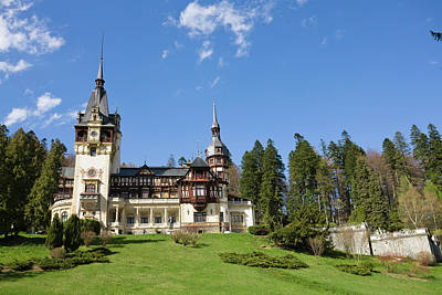 Pele Wall Art - Photograph - Peles Castle, Sinaia, Carpathian by Martin Zwick